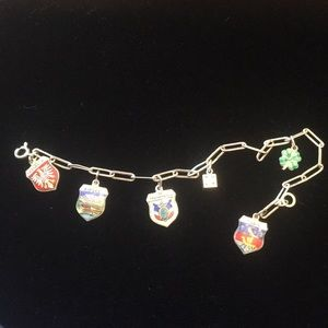 Vintage bracelet with charms 7 inches